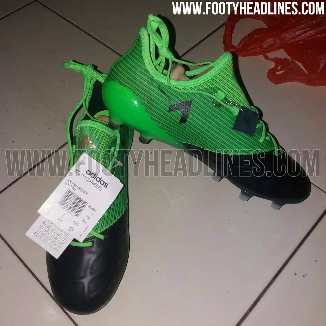1998d7327d1b The next Adidas Ace 17.1 Leather boot colorway will be released shortly as  part of the Turbocharge pack. Black and green