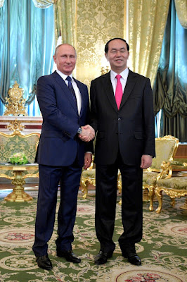 Russian President with President of Vietnam Tran Dai Quang.