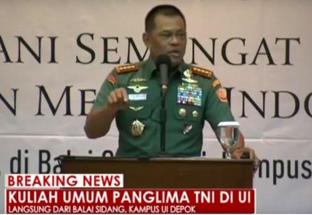 Kuliah Umum Panglima TNI di UI pada 16 November 2016