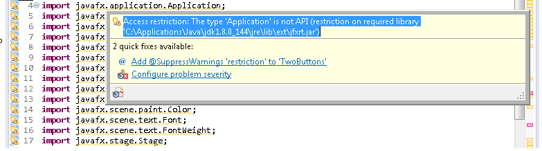 Notes of a Programmer: Get Rid Of Eclipse Warning Messages