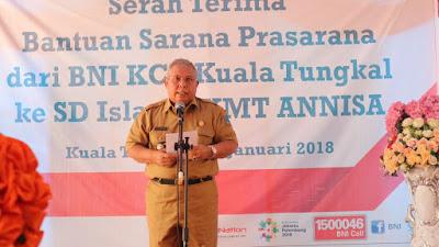 Bupati Tanjabbar Terima Bantuan CSR dari PT Bank BNI