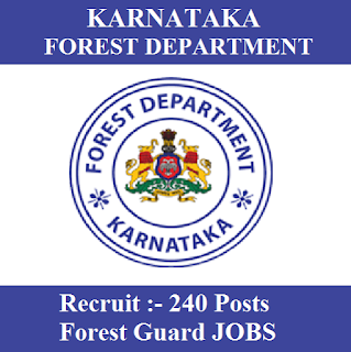 Karnataka Forest Department, Karnataka, KFD, KFD Karnataka, Forest Guard, 12th, freejobalert, Sarkari Naukri, Latest Jobs, kfd karnataka logo