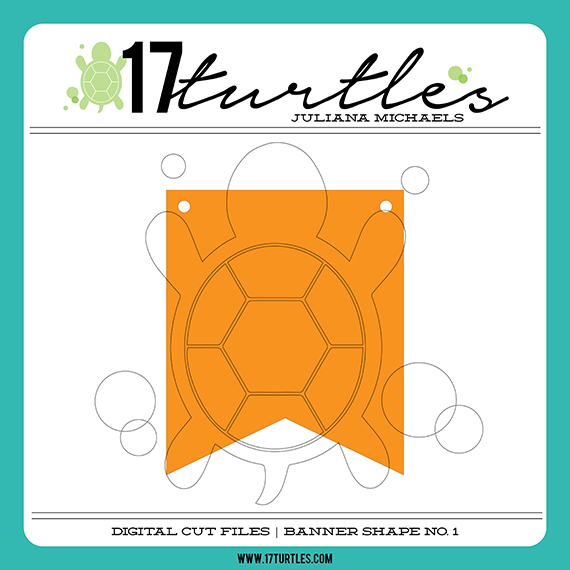 Banner Shape No. 1 Free Digital Cut File by Juliana Michaels 17turtles