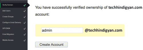 successfully verified your domain