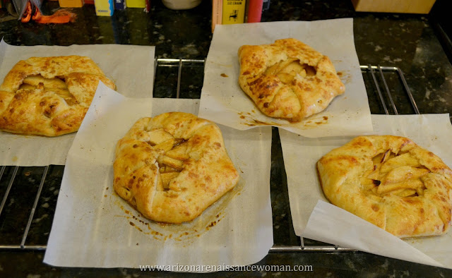 Individual Apple and White Cheddar Galettes - Cooling (All Four)