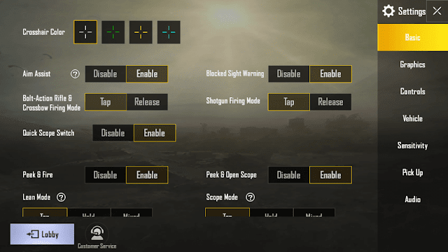 Quick Scope Switch not working : PUBGMobile