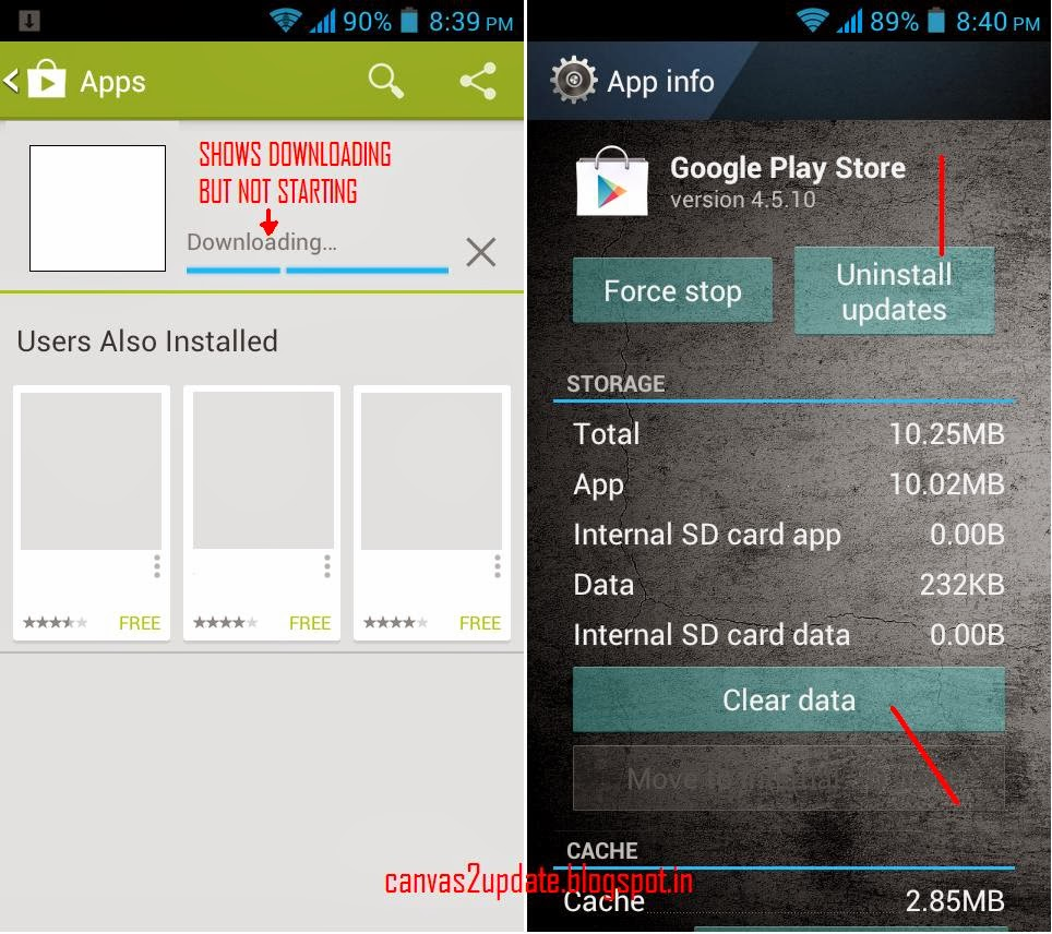 How To Solve Playstore Downloading Error On Micromax Canvas