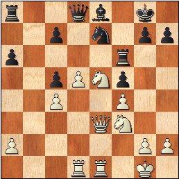 Partida de ajedrez Valentín Marín - Parsons, 1925, posición después de 24.De3