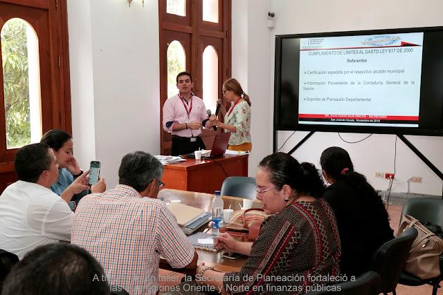 Secretaría de Planeación fortalece a las Subregiones Oriente y Norte en finanzas públicas mediante un taller #RSY #OngCF