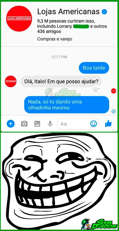 TÔ SÓ OLHANDO MESMO
