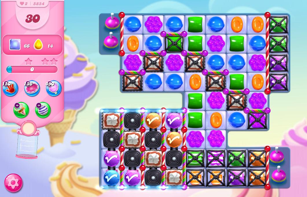 Candy Crush Saga level 5854