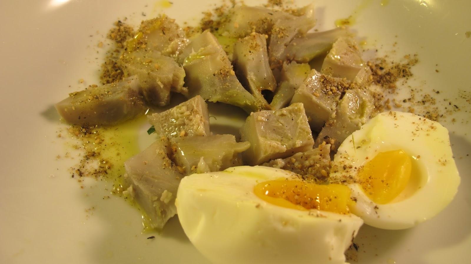 Artichaut et oeuf mollet le blog de cuisine en bouche - Cuisiner coeur d artichaut ...