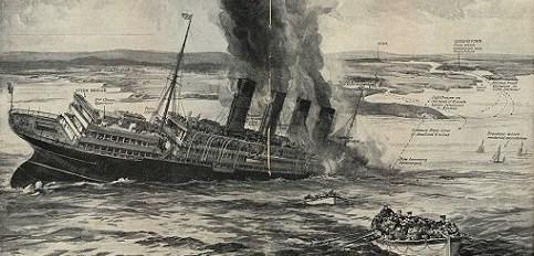 Untergang der Lusitania am 7. Mai 1915