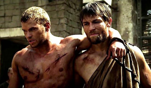 Kellan Lutz şi Liam McIntyre (Spartacus) în The Legend Of Hercules