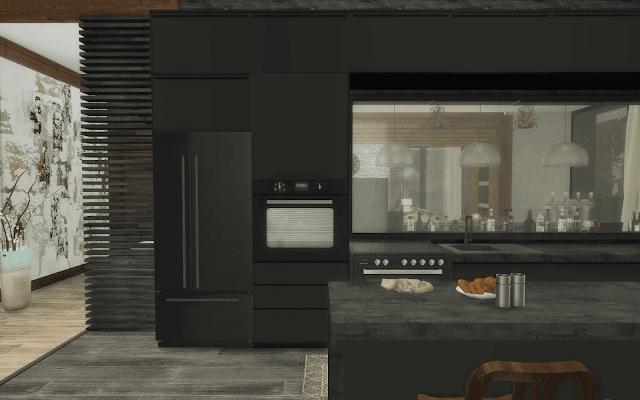 cuisine noir sims 4