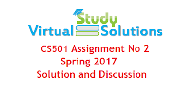 CS501 Assignment no 2 Spring 2017 Solution and Discussion