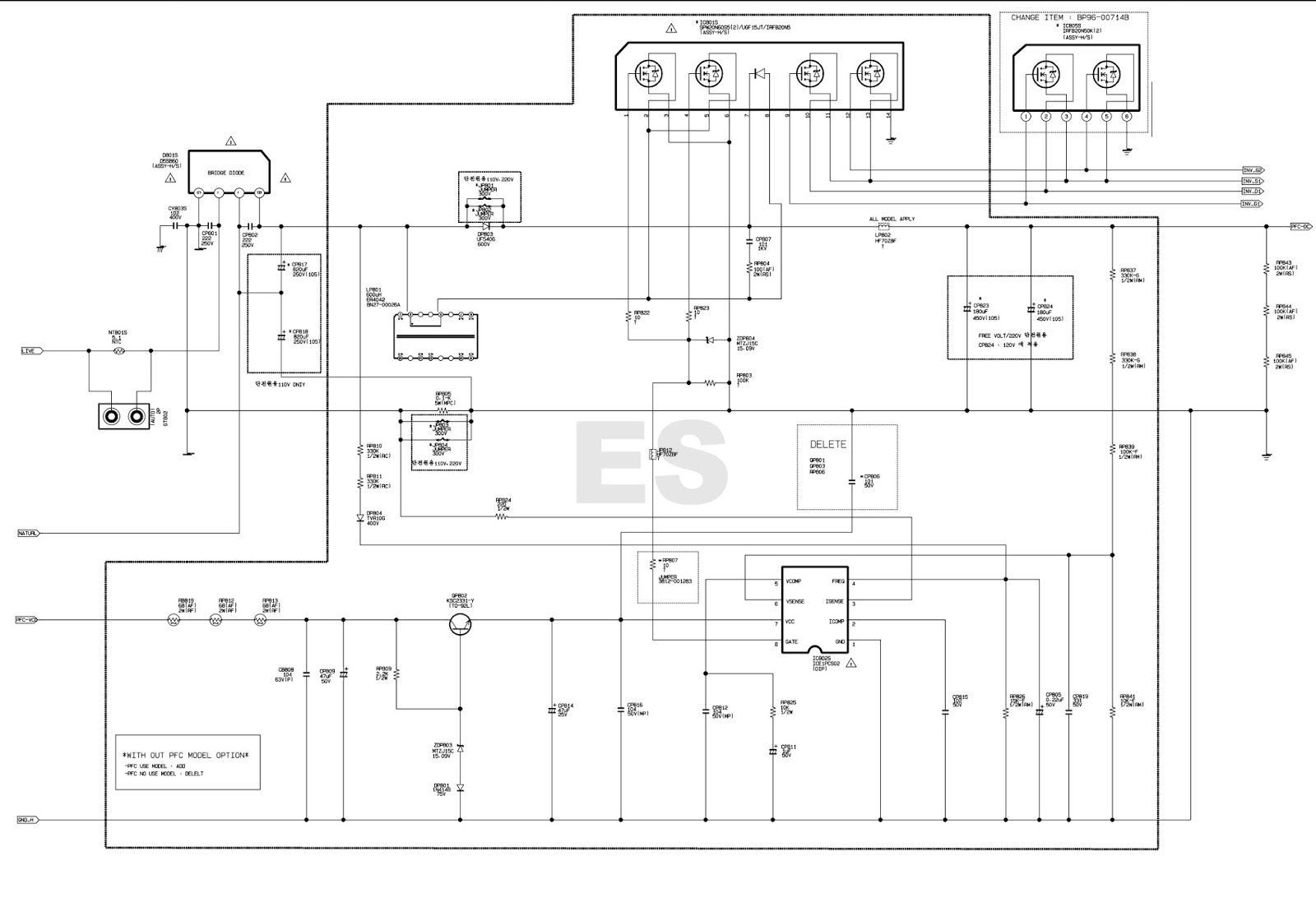 Electronic Equipment Repair Centre Samsung Bn44 00622b Power Circuit Service Manual Tv Schematic Diagrams Led Supply Board Diagram Viper12a Str W6765 Ice1pcs02 Lcd Television And