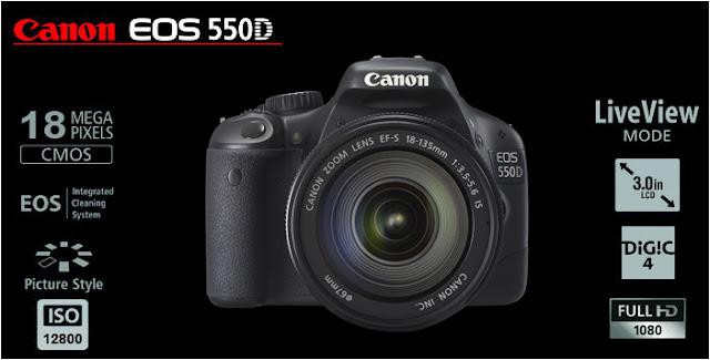 Banner della Canon EOS 550D