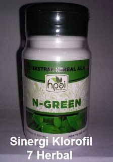 Jual khasiat N Green Hpai original Sinergi 8 klorofil hijau daun obat herbal