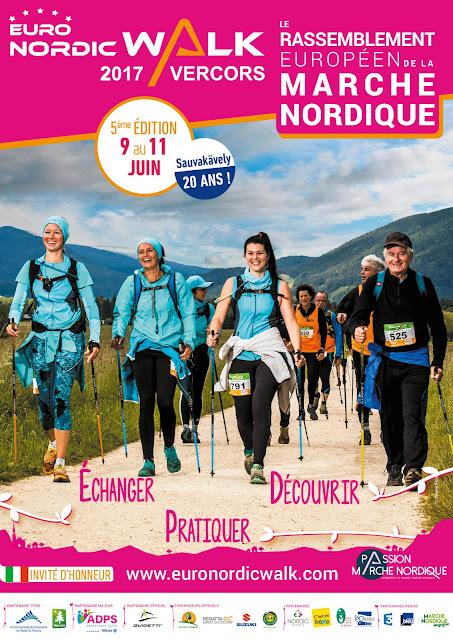 EURONORDICWALK VERCORS 9-11 JUIN 2017 affiche