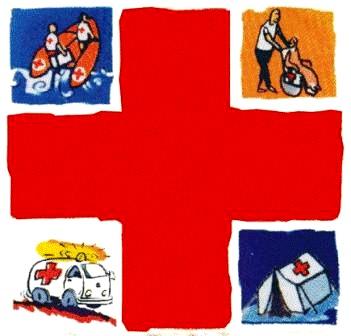 Dibujo alusivo al Día de la Cruz Roja a colores