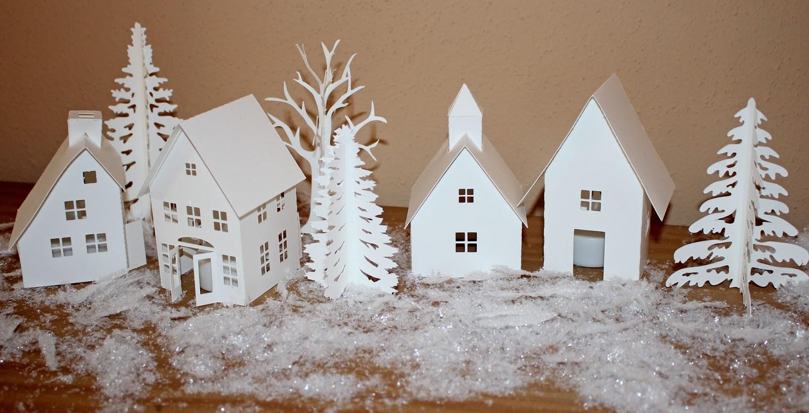 Papierbienes Bastelblog: Frohes Fest Aus Dem Weihnachtsdorf
