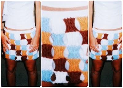 Falda de Trozos de Crochet Instrucciones