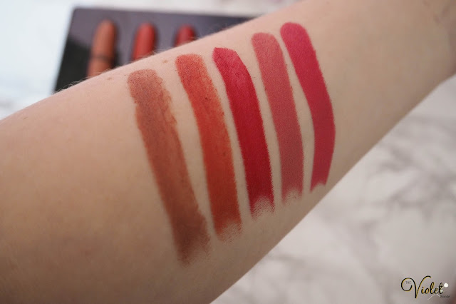 mac look in a box lipstick swatches