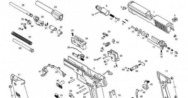 disassembly  diy  my airsoft gun  and other things  ksc p226 exploded diagram  main gun and magazine