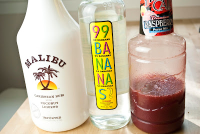 Raspberry Banana Colada ~ A Year of Cocktails