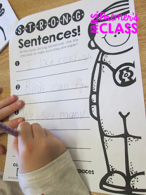 Super Hero themed unit on building sentences, using punctuation, complete vs incomplete sentences, verbs, adjectives, and more! Perfect for First Grade and Second Grade writing. #sentencebuilding #superherotheme #1stgrade #2ndgrade #writing