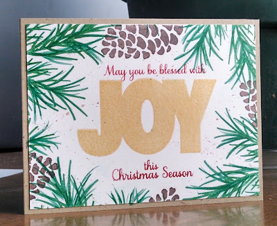 Giveaway Winner...JOY Pine Branch Card