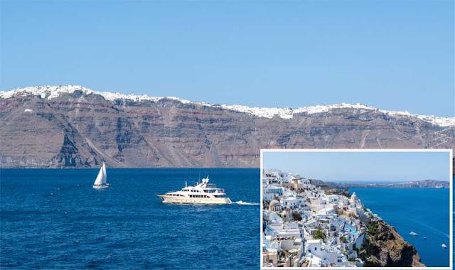 Pulau Santorin menjadi tempat wisata
