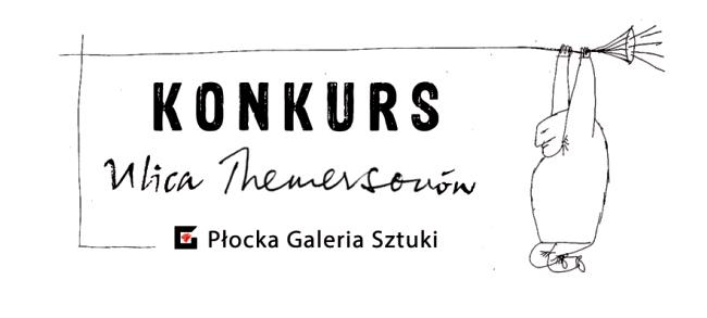 """Logo konkursu plastycznego """"Ulica Themersonów"""""""