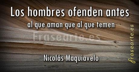 Frases famosas de Nicolás Maquiavelo