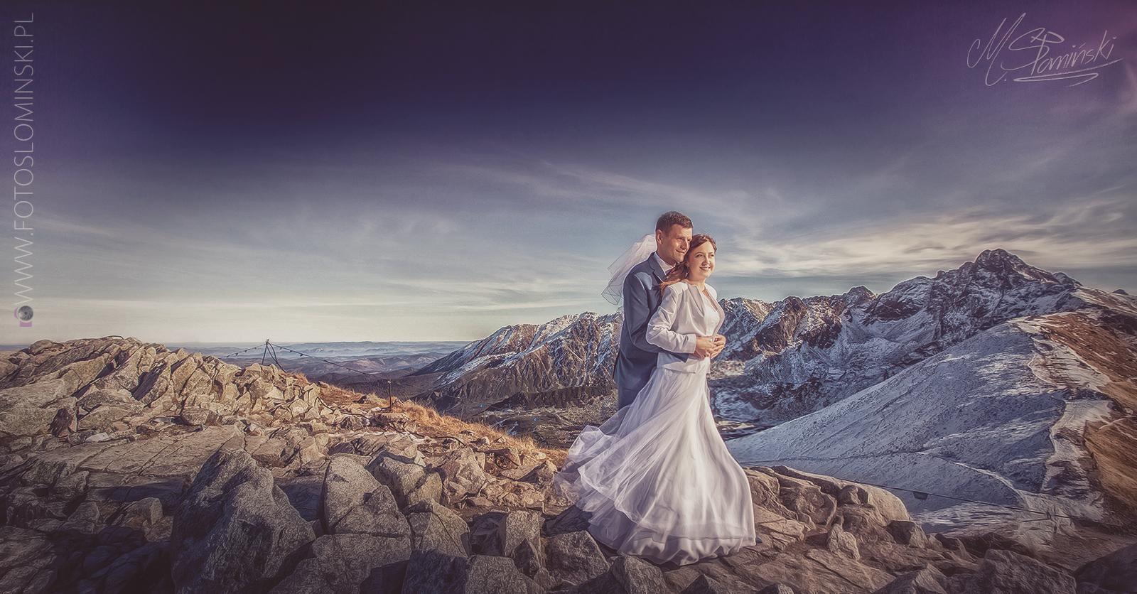 Sesja plenerowa w Zakopanem - Kasprowy Wierch - Fotografia ślubna w zimie.