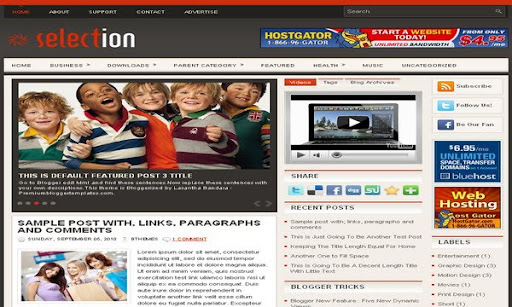 Selection Blogger Template