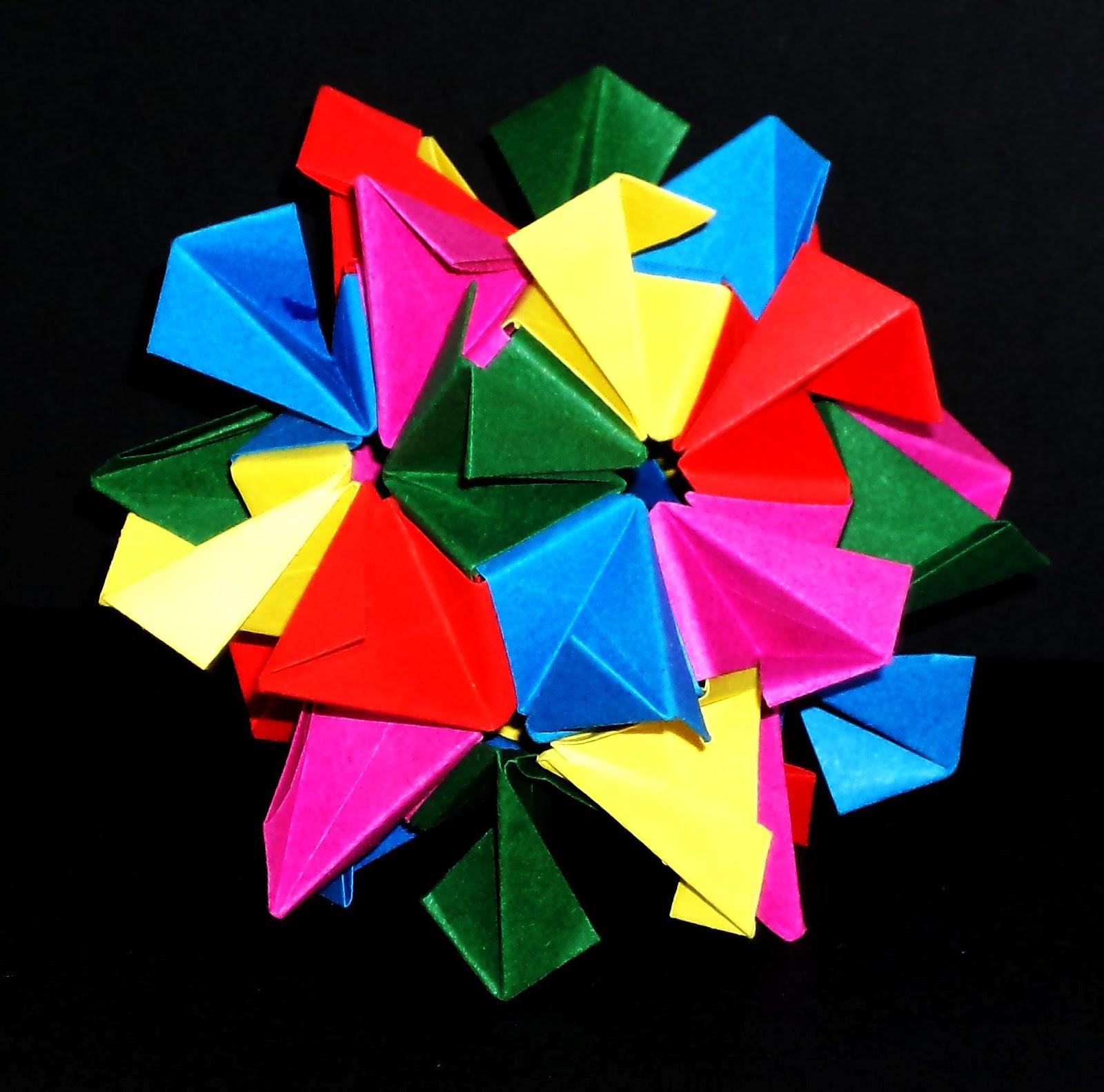 Origami Poinsettia Flower Ball