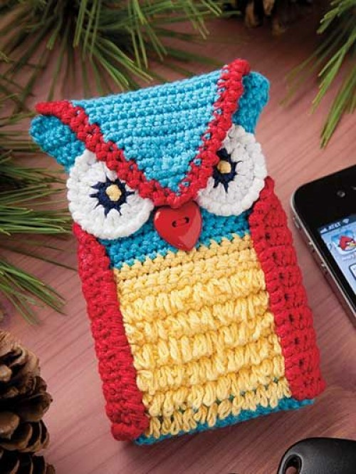 Crochet Owl Phone Case - Free Pattern