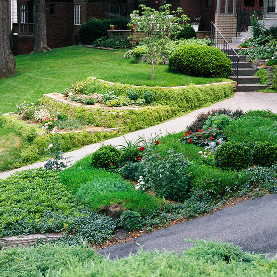 Sloping Garden Ideas And Optimal Solutions For Landscape: New Home Interior Design: Tips For Taming A Slope