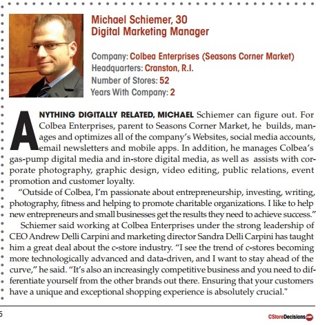 mike schiemer cstore industry 40 under 40 winner