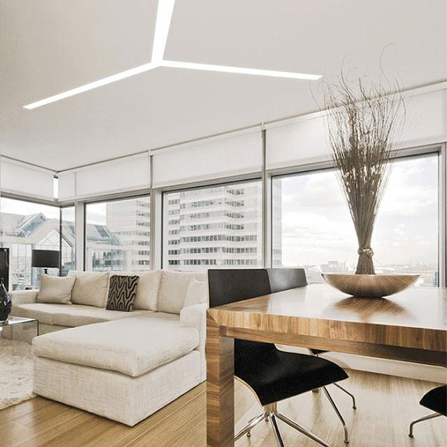 красивое освещение комнаты