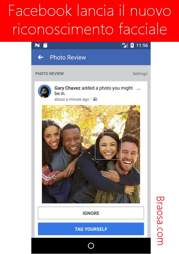 Come funziona il riconoscimento facciale di Facebook in arrivo nel 2018