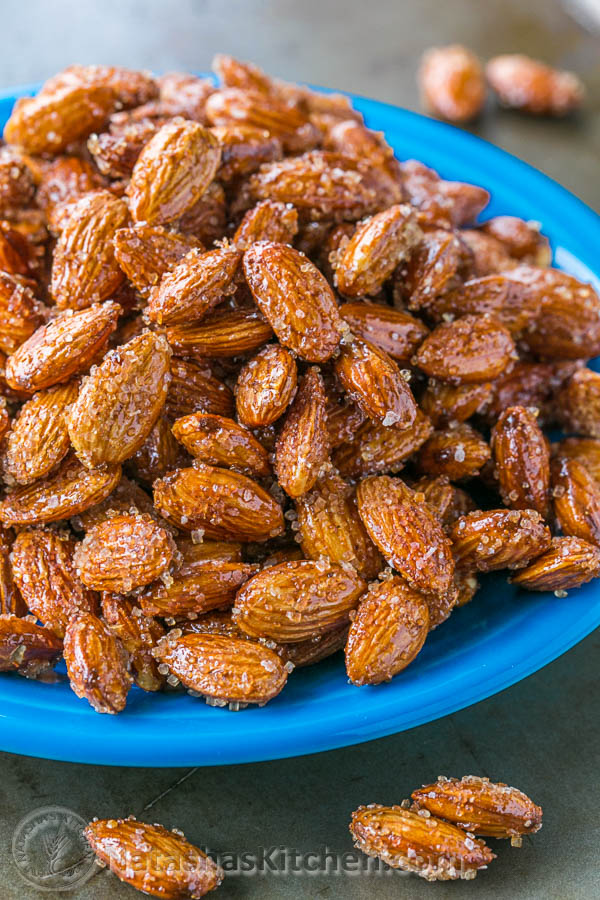 Spiced Honey Roasted Almonds
