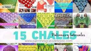 15 Tutoriales y Patrones de Chales Triangulares para tejer