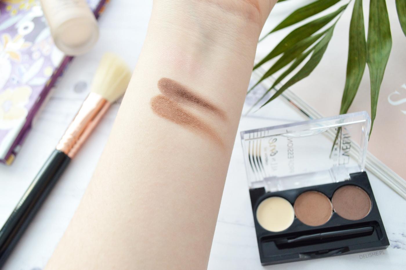 eveline cosmetics paletka do brwi swatche