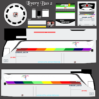 Download Livery Es Bus Id Po. Sinar jaya 24 RC