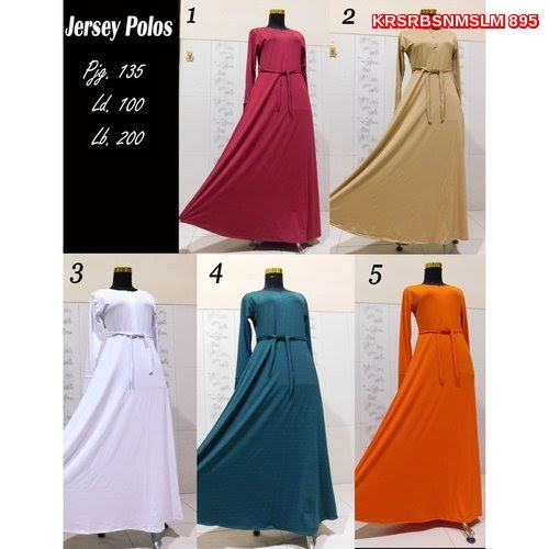 KRS895 Baju Gamis Model Jersey Polos Sale Murah BMG