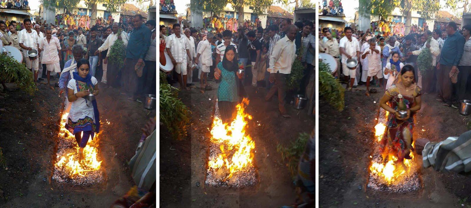 गल पर्व - गल घूम कर मन्नतधारियों ने उतारी मन्नत-Jhabua-Gal-Chul-Parva