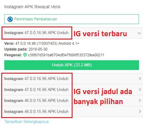 Aplikasi APK Jadul